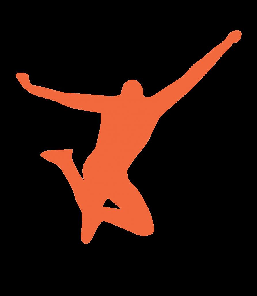 Orange Jumping Character