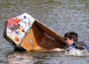 Cardboard Raft Fun