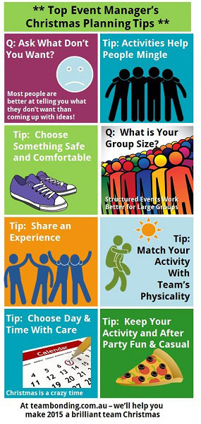 christmas party planning tips from team bonding - Christmas Party Games For Adults Large Group