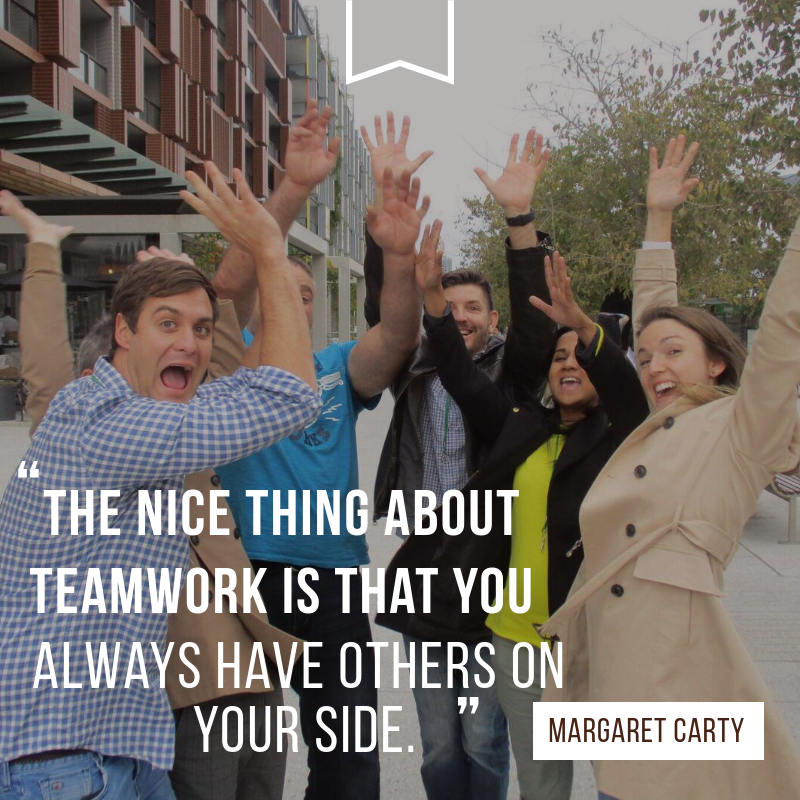Great team building quotes by Margaret Carty and compiled by Team Bonding